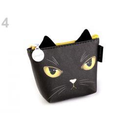 Peňaženka / puzdro mačka Languo 8x11 cm čierna 1ks Stoklasa