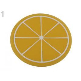Silikónová podložka citrón, pomaranč, melón, kiwi, jahoda Ø9 cm citrón 1ks Stoklasa