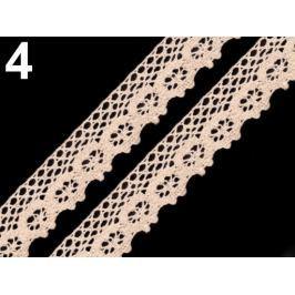 Čipka bavlnená šírka 25 mm paličkovaná Ecru 135m Stoklasa