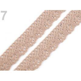 Čipka bavlnená šírka 25 mm paličkovaná Cuban Sand 135m Stoklasa