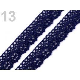 Čipka bavlnená šírka 25 mm paličkovaná Medieval Blue 135m Stoklasa