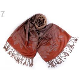 Šál typu pashmina so strapcami 70x165 cm terakota 1ks Stoklasa