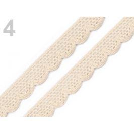 Čipka bavlnená šírka  15 mm paličkovaná Ecru 108m Stoklasa