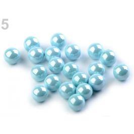 Dekoračné guľky / perly bez dierok Ø6 mm lesklé modrá nezábudková 20ks Stoklasa