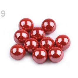 Dekoračné guľky / perly bez dierok Ø10 mm lesklé červená sv. 10ks Stoklasa