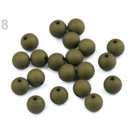 Plastové koráliky matné Ø10 mm zelená 20ks Stoklasa