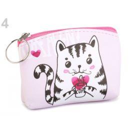 Peňaženka / puzdro sova, mačka, líška 8x11 cm ružová najsv. 1ks Stoklasa