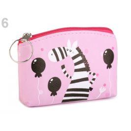 Peňaženka / puzdro sova, mačka, líška 8x11 cm ružová svetlá 1ks Stoklasa