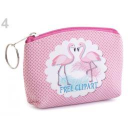 Peňaženka / puzdro plameniak 8x11 cm pink 1ks Stoklasa