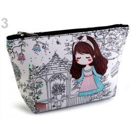 Kozmetická taška / puzdro bábika 14x23 cm tyrkys sv. 1ks Stoklasa