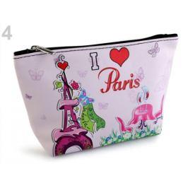 Kozmetická taška / puzdro Paríž 14x23 cm ružová najsv. 1ks Stoklasa
