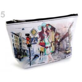Kozmetická taška / puzdro Londýn, Paríž, Praha 14x23 cm mliečna 1ks Stoklasa