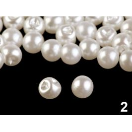 Perla k našitiu / gombík Ø6 mm perleťová 20ks Stoklasa