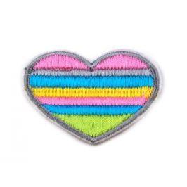 Nažehlovačka srdce farebné Multicolored 200ks Stoklasa