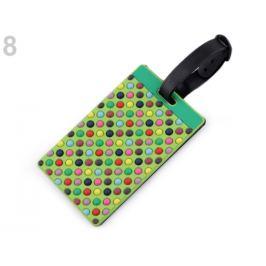 Menovka / visačka na kufor zelená sv. 1ks Stoklasa