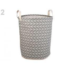 Ľanový kôš 35x44 cm šedá 1ks Stoklasa