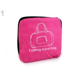 Skladacia cestovná taška ľahká 31x39 cm malinová 1ks Stoklasa