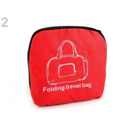 Skladacia cestovná taška ľahká 31x39 cm červená 1ks Stoklasa