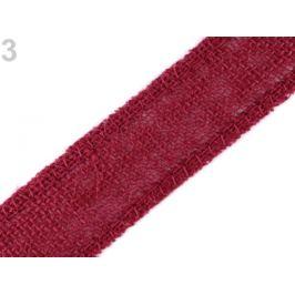 Jutová stuha šírka 35 mm bordó 13.5m Stoklasa