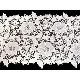 Vyšívaná čipka / štóla šírka 36 cm off white Off White 1m Stoklasa