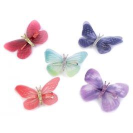 Motýľ s klipom mix variant 12ks Stoklasa
