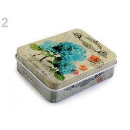 Plechová krabička na šitie zelenobežova 1ks Stoklasa
