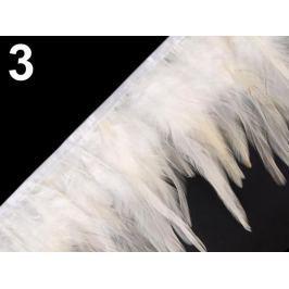 Prámik - kohútie perie šírka 12 cm biela 1m Stoklasa