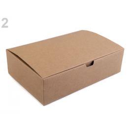 Papierová krabička hnedá prírodná 1ks Stoklasa
