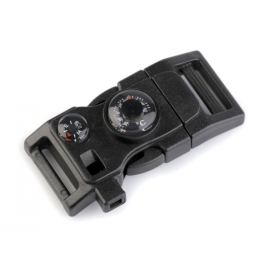 Spona trojzubec s píšťalkou a kompasom šírka 20 mm čierna 1ks Stoklasa