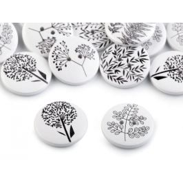 Drevený dekoračný gombík rastliny Stoklasa