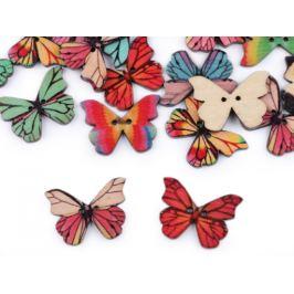 Drevený dekoračný gombík motýľ Stoklasa