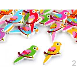 Drevený dekoračný gombík zvieratká Stoklasa