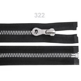 Kostený zips šírka 8 mm dĺžka 60 cm čierna 1ks Stoklasa
