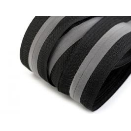 Zips špirálový krytý šírka 5 mm metráž reflexný čierna 1m Stoklasa