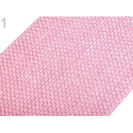 Sieťovaná guma šírka 24-25 cm tutu 2. akosť ružová sv. 1m Stoklasa