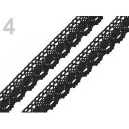 Čipka bavlnená šírka 35 mm paličkovaná Black 18m Stoklasa