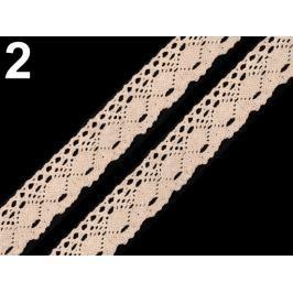 Čipka bavlnená šírka 35 mm paličkovaná Ecru 126m Stoklasa