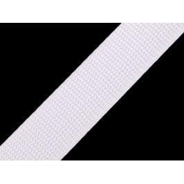 Popruh polypropylénový šírka 25 mm typ BX biela 1m