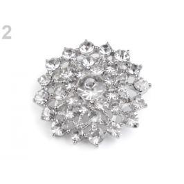 Brošňa / svadobná ozdoba na kytice crystal 1ks Stoklasa