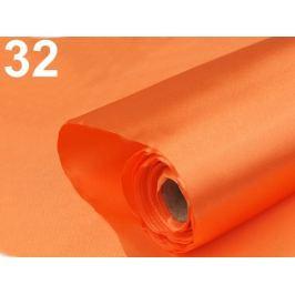 Satén jednostranný šírka 36 - 37 cm mrkvová 9m