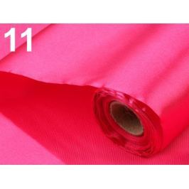 Satén jednostranný šírka 36 - 37 cm ružová neon 90m