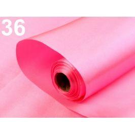 Satén jednostranný šírka 36 - 37 cm ružová ostrá sv. 90m
