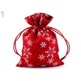Darčekové vrecúško vločky 13x18 cm červená 1ks Stoklasa
