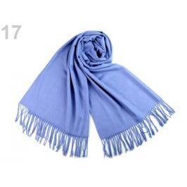 Šál typu pashmina so strapcami 65x180 cm modrá jeans 1ks Stoklasa