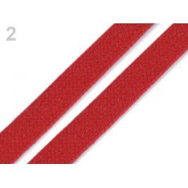 Odevná šnúra plochá šírka 15 mm červená 10m Stoklasa