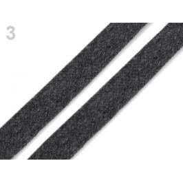 Odevná šnúra plochá šírka 15 mm šedá kalná 10m Stoklasa