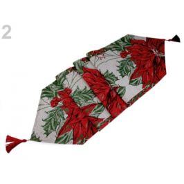 Vianočný behúň / obrus 34x170 cm gobelín červená 1ks Stoklasa