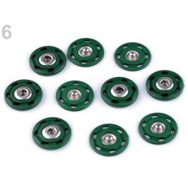 Dizajnové patentky / druky Ø25 mm zelená malachitová 5pár Stoklasa