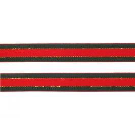 Vianočná stuha s lurexom šírka  20 mm Fiery Red 290m Stoklasa