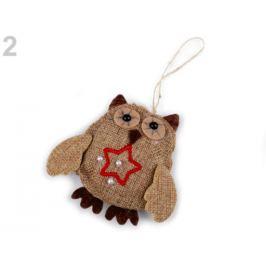 Jutová dekorácia sova režná príodná 1ks Stoklasa